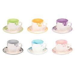 خرید اینترنتی فنجان نعلبکی 12 پارچه آی هوم مدل IH-1126 , قیمت انواع سرویس چای خوری آی هوم