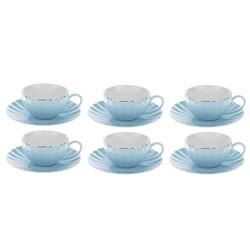 خرید اینترنتی ست فنجان و نعلبکی 12 پارچه رویال کلاسیک کد 001 , قیمت انواع سرویس چای خوری متفرقه