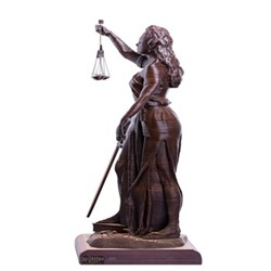 خرید اینترنتی مجسمه دکوراتیه طرح بانوی عدالت , قیمت انواع مجسمه و تندیس دکوراتیه
