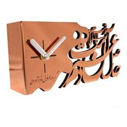 خرید اینترنتی ساعت رومیزی سالی وان مدل حاصل عمر طرح مس , قیمت انواع ساعت های تزئینی سالی وان